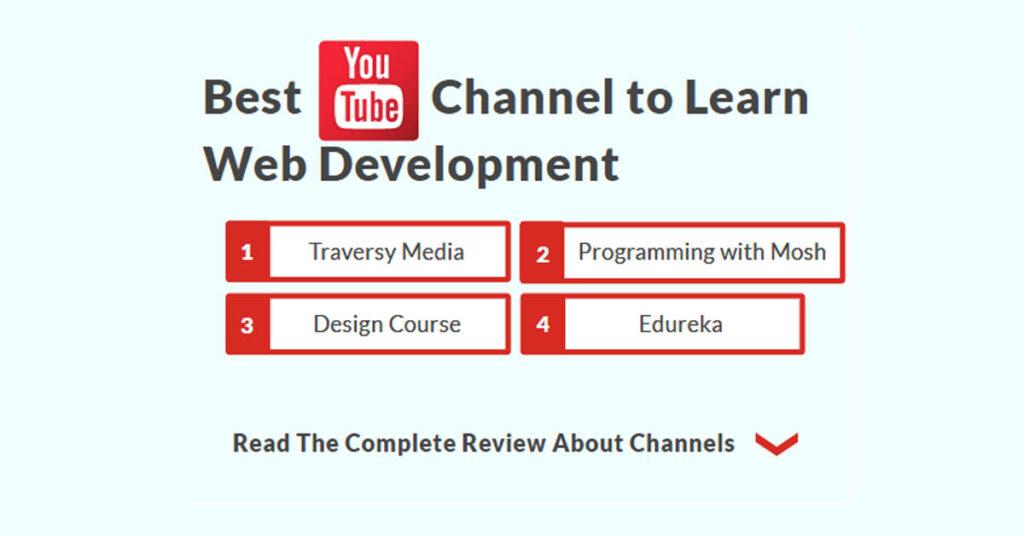 best-youtube-channels-to-learn-web-development